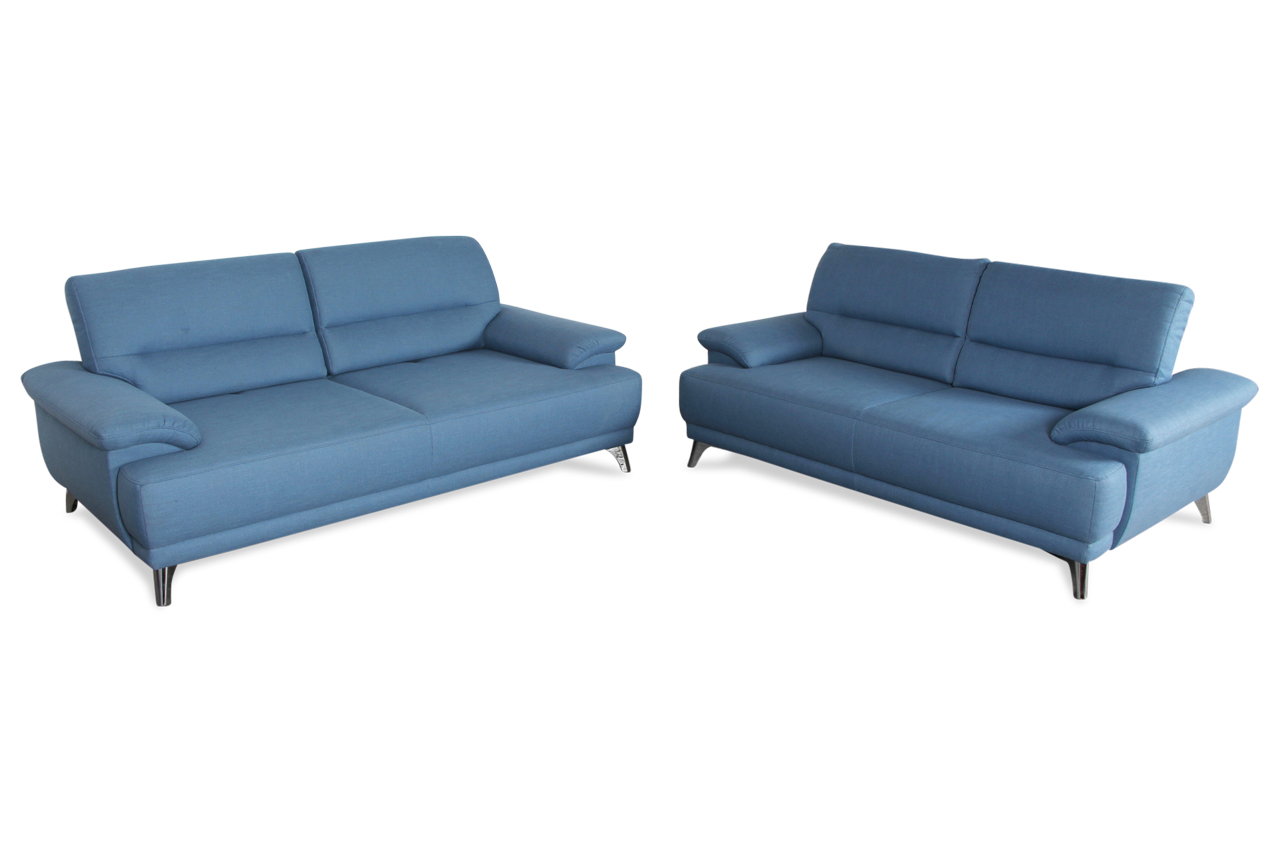 garnitur 3 2 mit sitzverstellung blau sofas zum. Black Bedroom Furniture Sets. Home Design Ideas