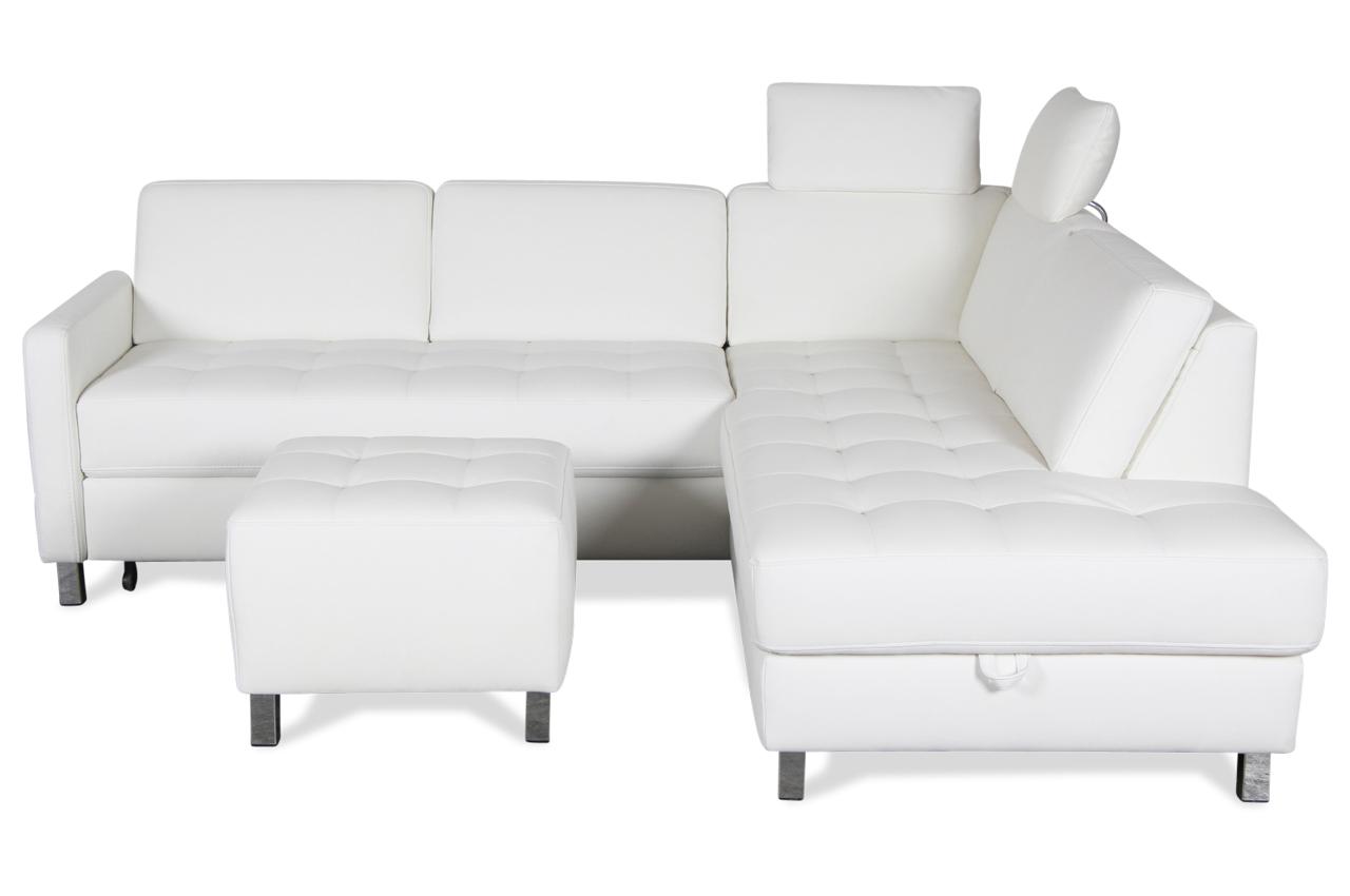 ecksofa xl mit hocker mit schlaffunktion weiss sofas zum halben preis. Black Bedroom Furniture Sets. Home Design Ideas
