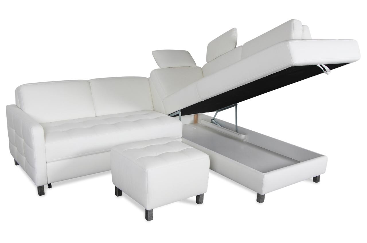 ecksofa xl mit hocker mit schlaffunktion weiss sofas. Black Bedroom Furniture Sets. Home Design Ideas