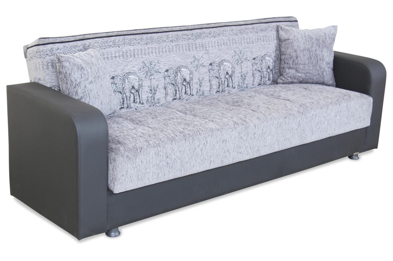 Seher 3er sofa jerry mit schlaffunktion anthrazit sofas zum halben preis 3er sofa mit schlaffunktion