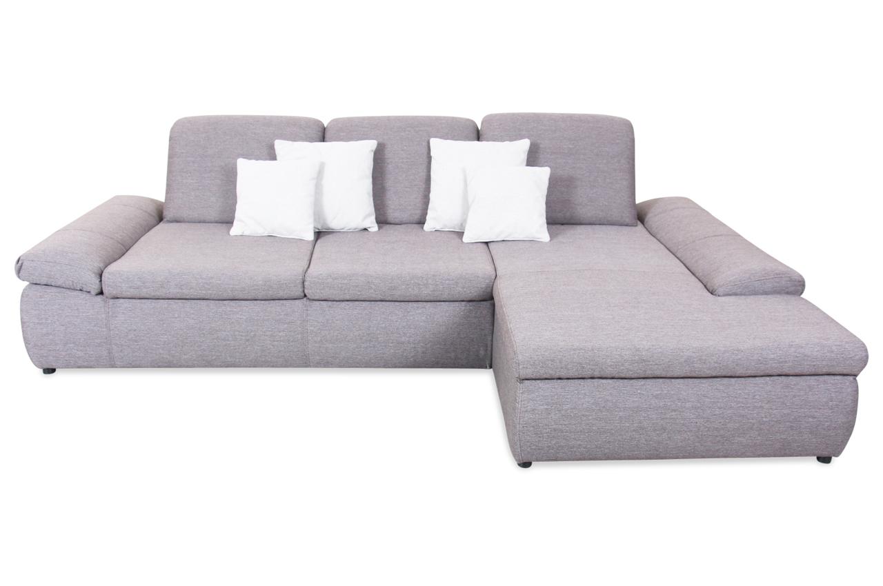 Ecksofa downhill mit relax braun sofa couch ecksofa for Ecksofa sitztiefe 70