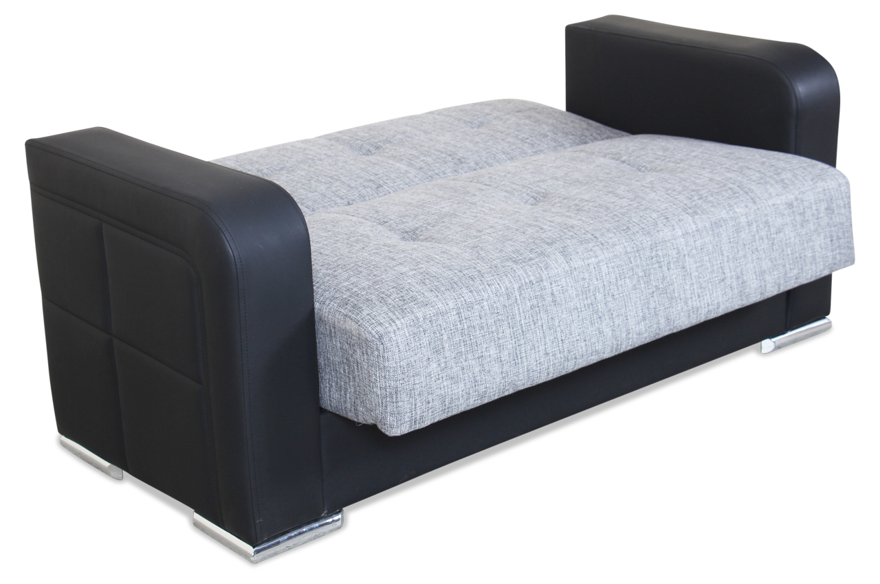 seher 2er sofa jerry mit schlaffunktion grau sofas. Black Bedroom Furniture Sets. Home Design Ideas
