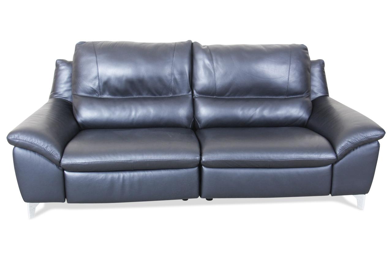 editions leder 3er sofa u200 mit relax schwarz sofa couch ecksofa ebay. Black Bedroom Furniture Sets. Home Design Ideas