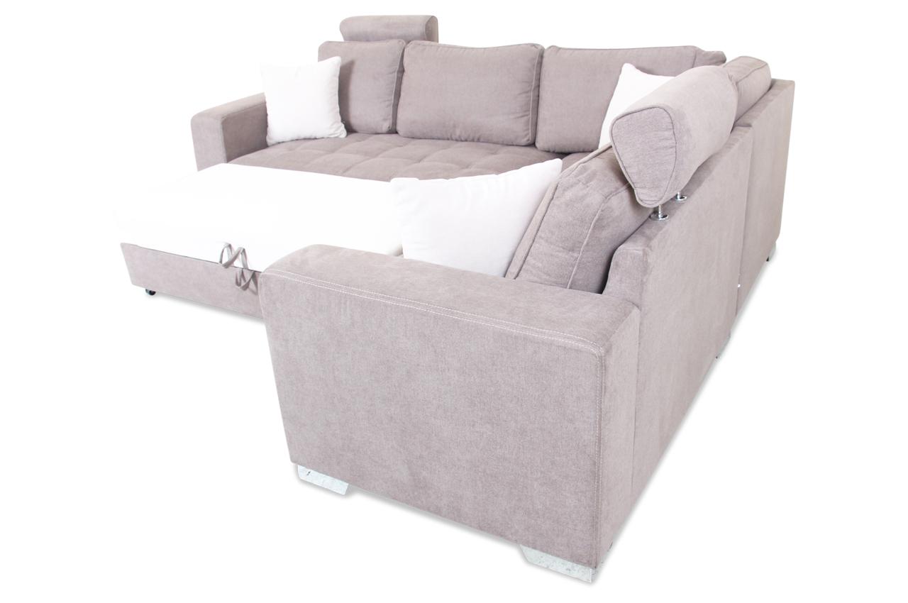 rundecke arles mit schlaffunktion braun sofas zum halben preis. Black Bedroom Furniture Sets. Home Design Ideas