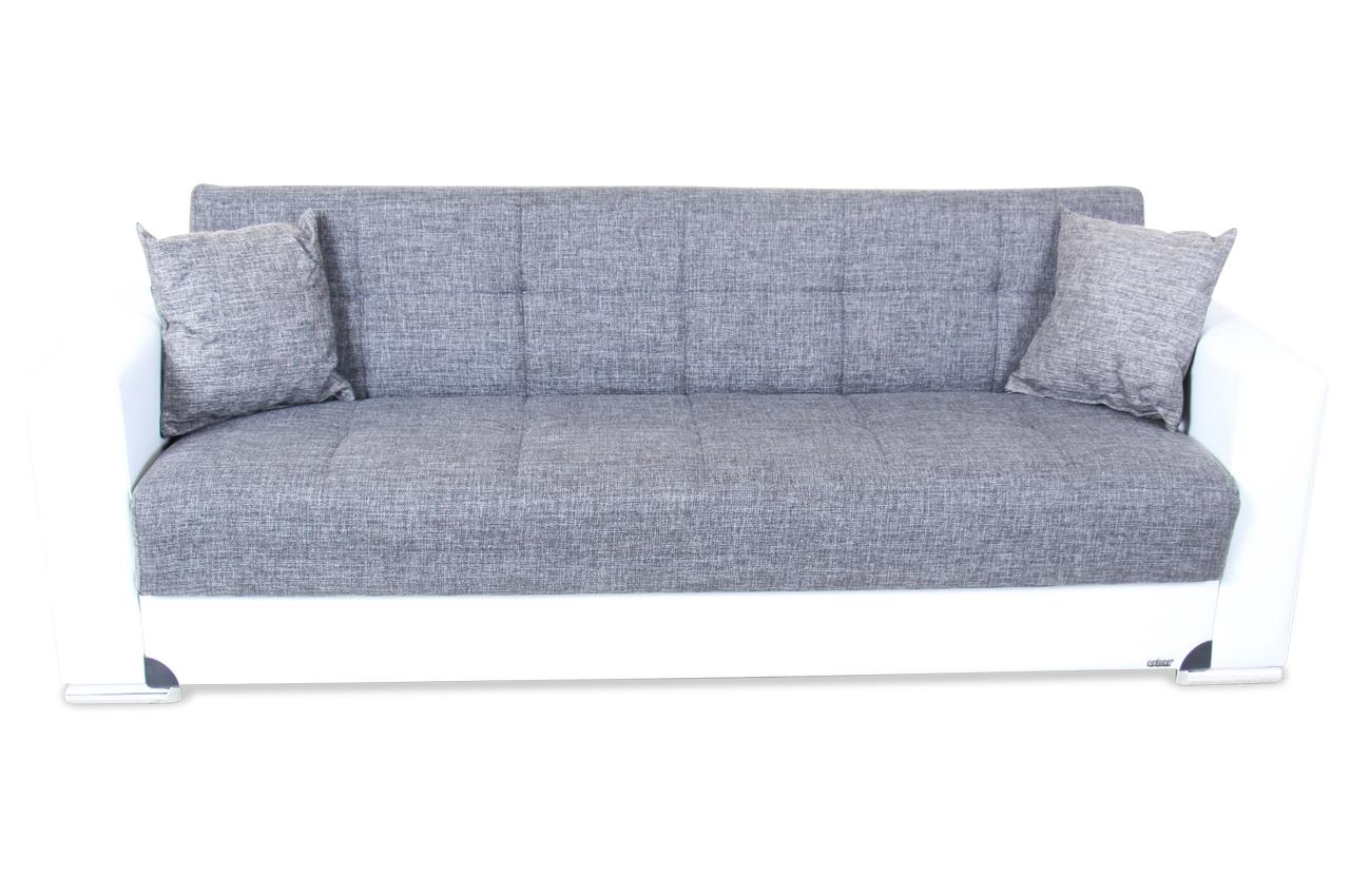 seher 3er sofa ben mit schlaffunktion weiss sofas. Black Bedroom Furniture Sets. Home Design Ideas