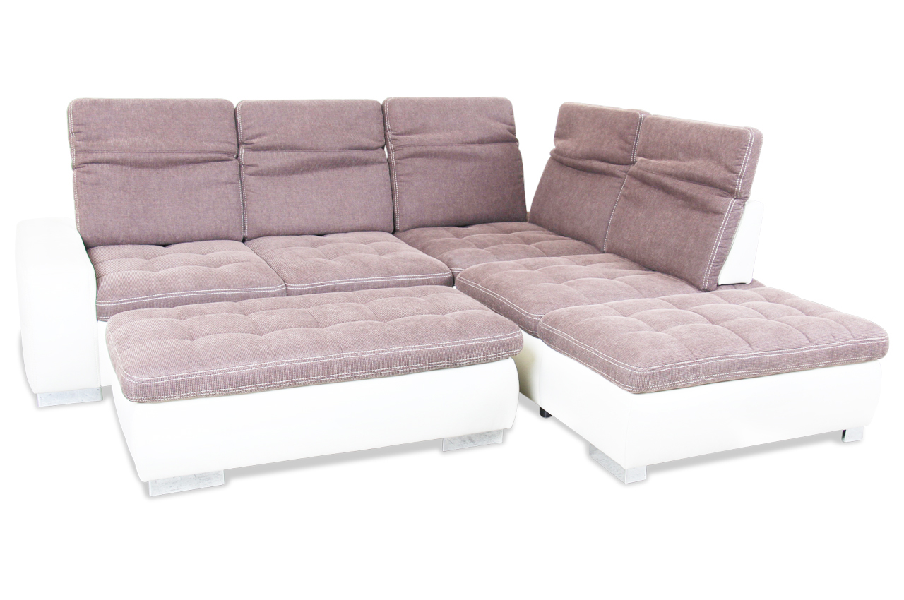 rundecke mit hocker mit relax braun sofa couch ecksofa ebay. Black Bedroom Furniture Sets. Home Design Ideas