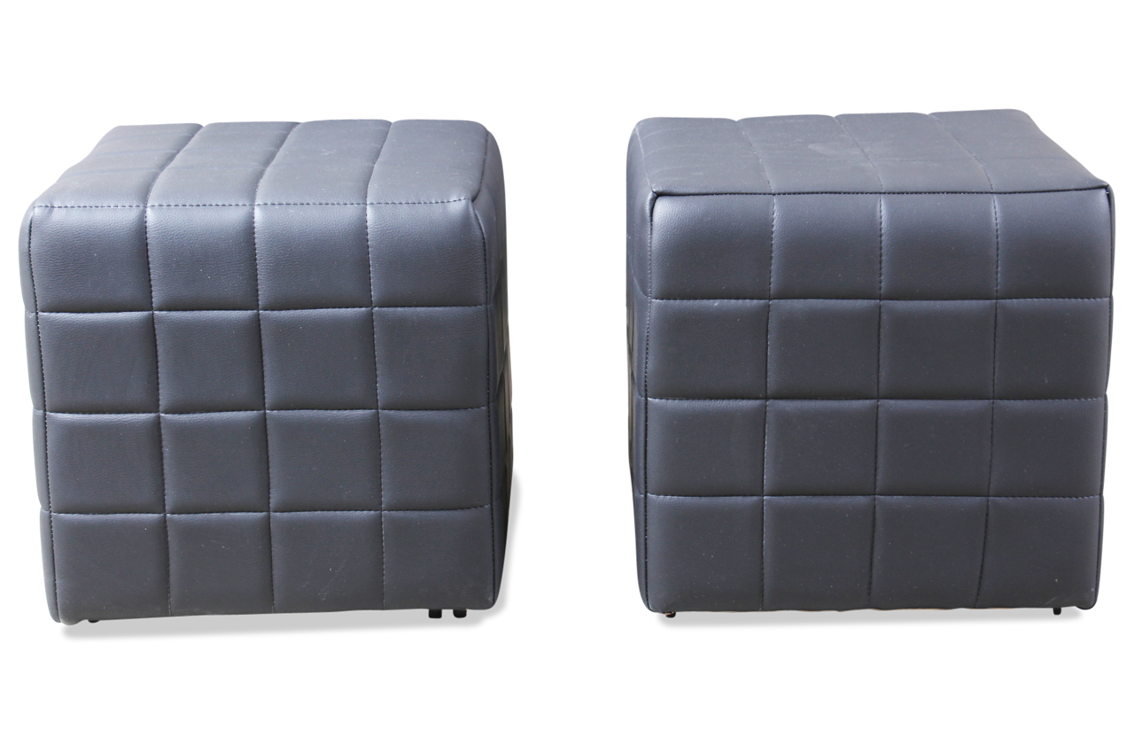 leder hocker mit hocker schwarz sofas zum halben preis. Black Bedroom Furniture Sets. Home Design Ideas