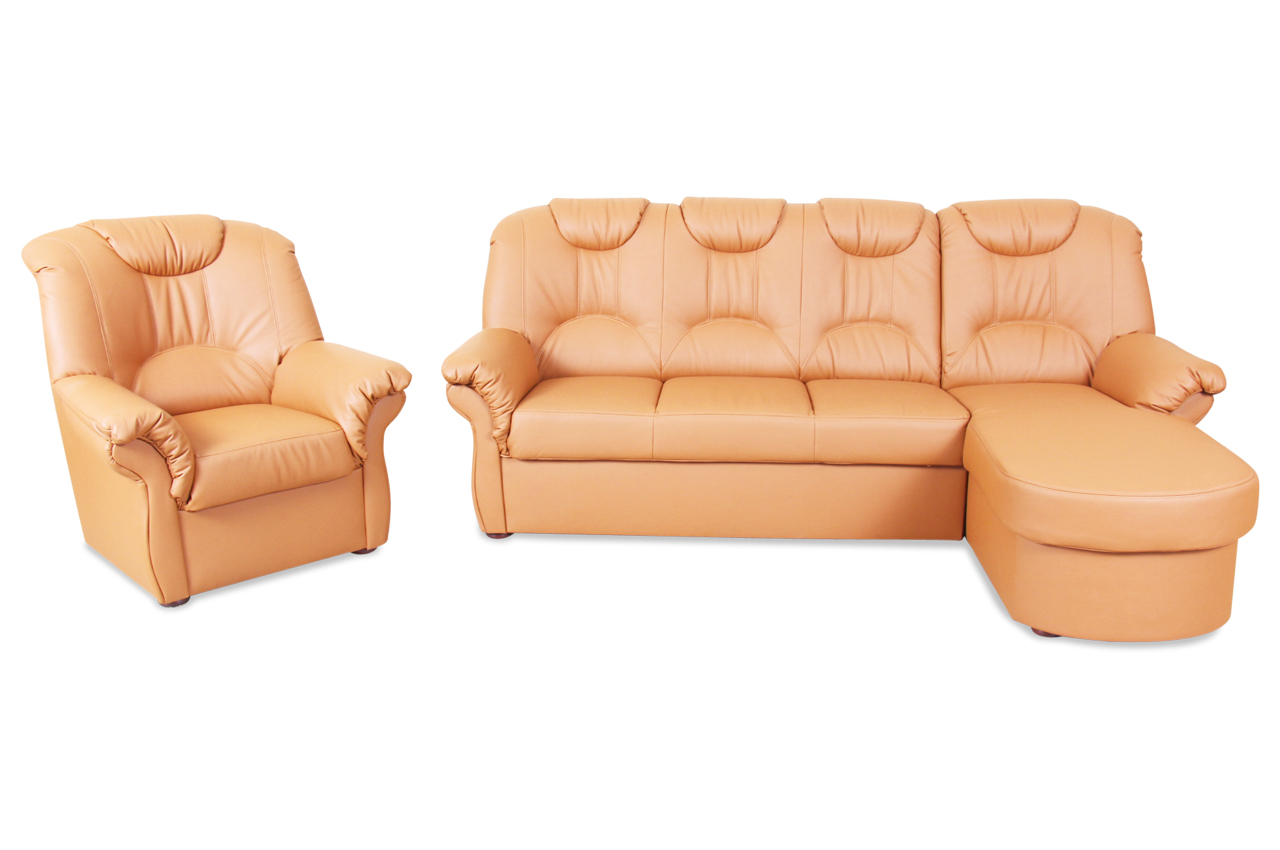 Ecksofa linus mit sessel orange sofas zum halben preis for Ecksofa mit sessel