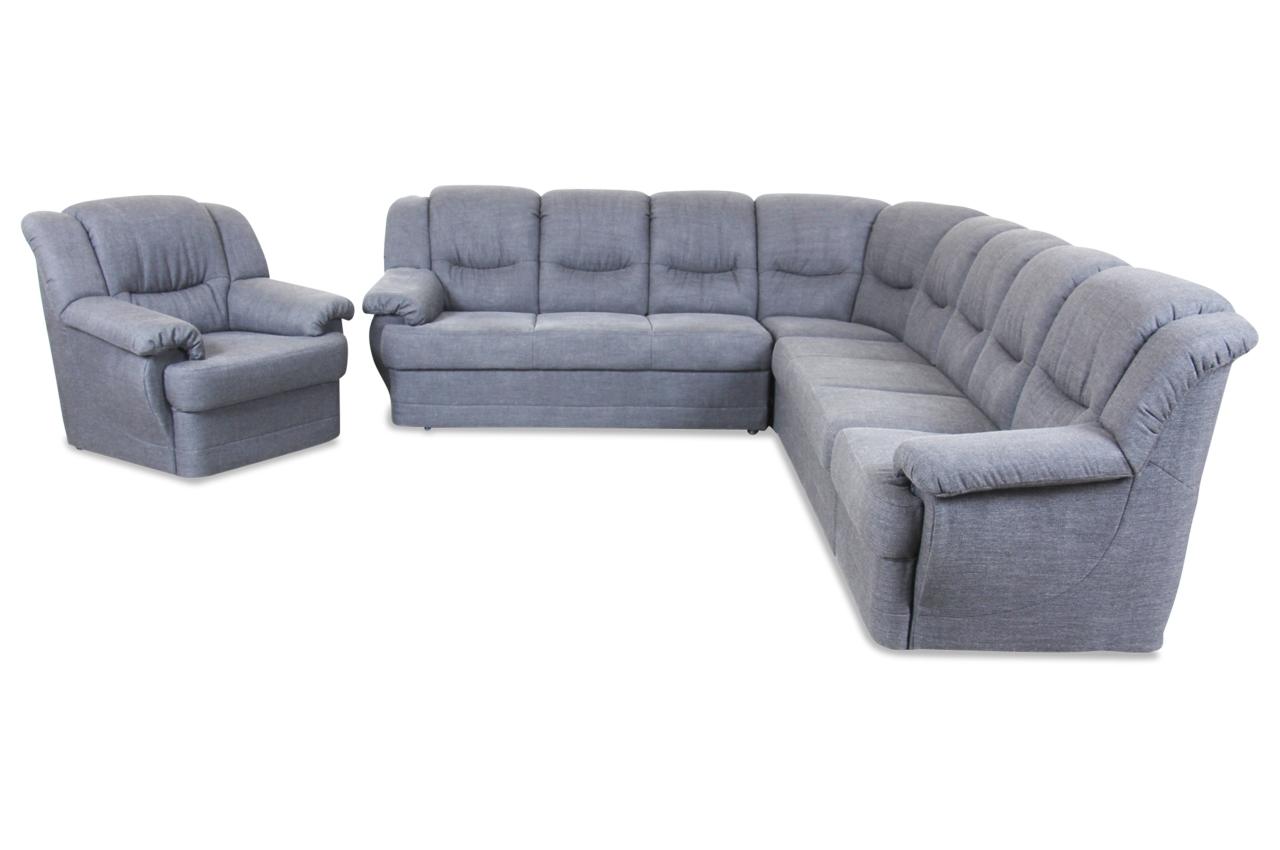 rundecke orion mit sessel grau sofas zum halben preis. Black Bedroom Furniture Sets. Home Design Ideas