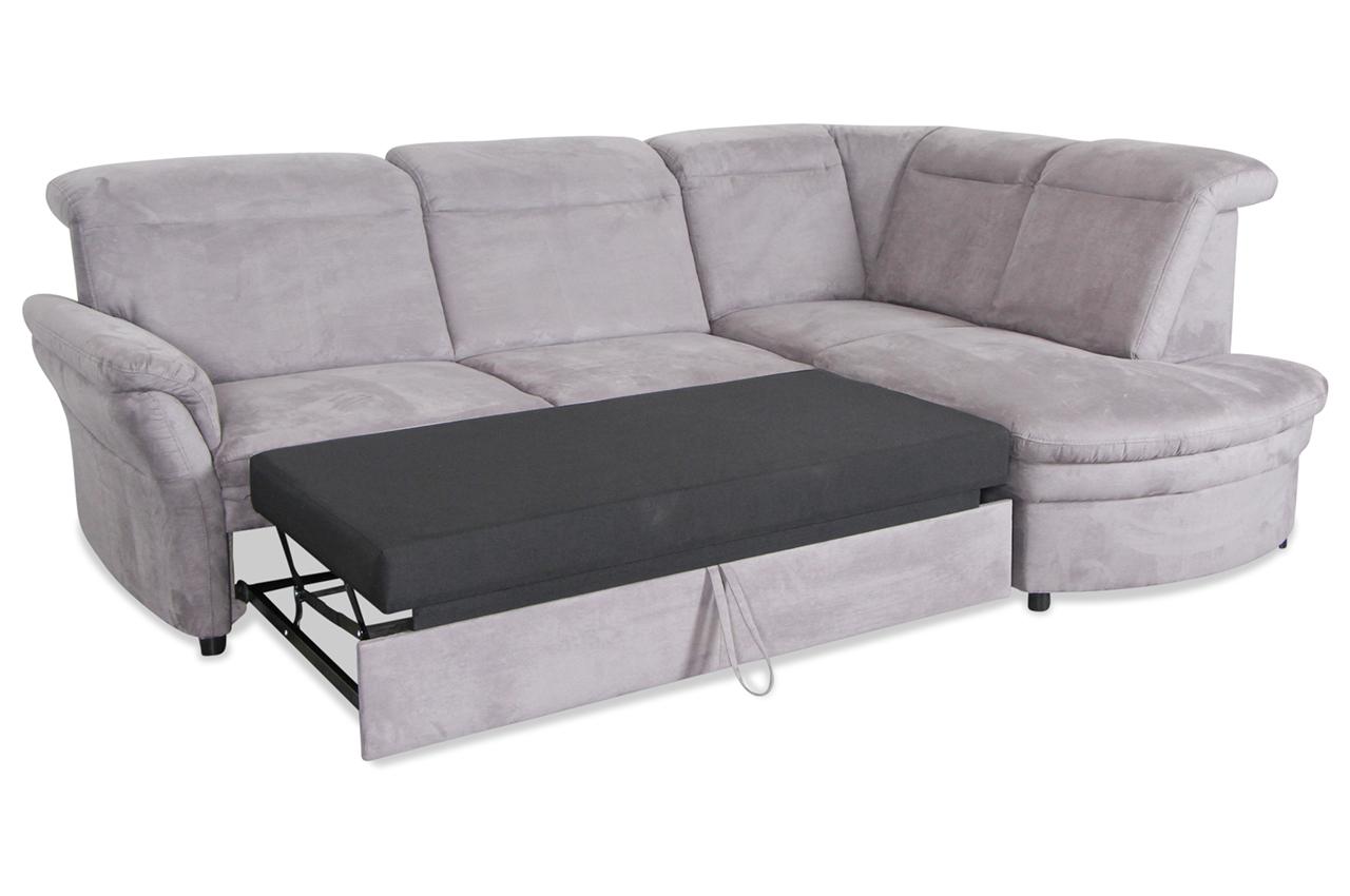 ecksofa xl mit schlaffunktion grau sofas zum halben. Black Bedroom Furniture Sets. Home Design Ideas