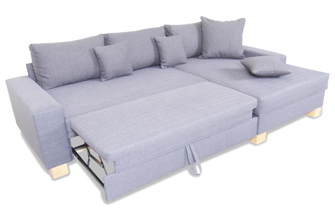 ada alina ecksofa 7727 mit schlaffunktion grau sofas zum halben. Black Bedroom Furniture Sets. Home Design Ideas