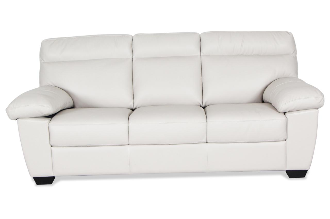 editions leder 3er sofa u224 creme mit federkern sofas zum halben preis. Black Bedroom Furniture Sets. Home Design Ideas