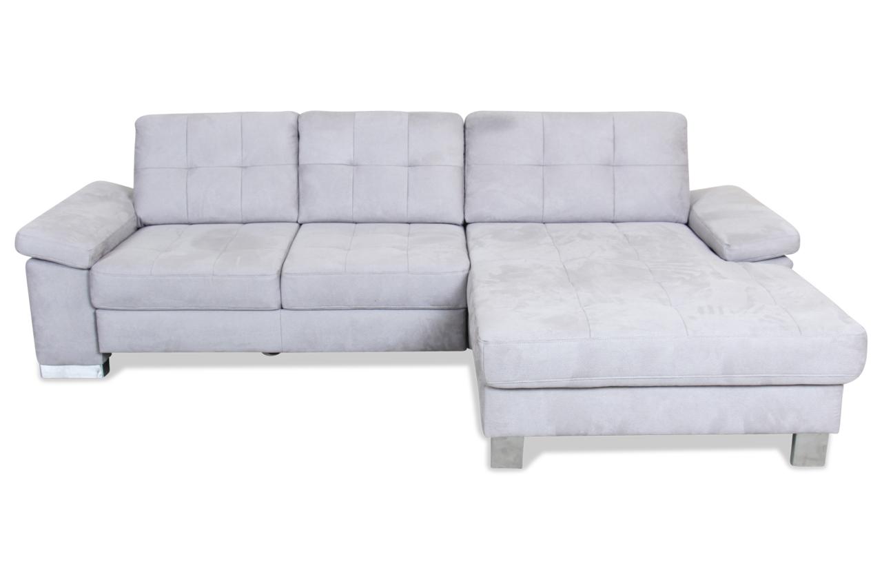 Ecksofa mit schlaffunktion grau sofas zum halben preis for Ecksofa microfaser grau