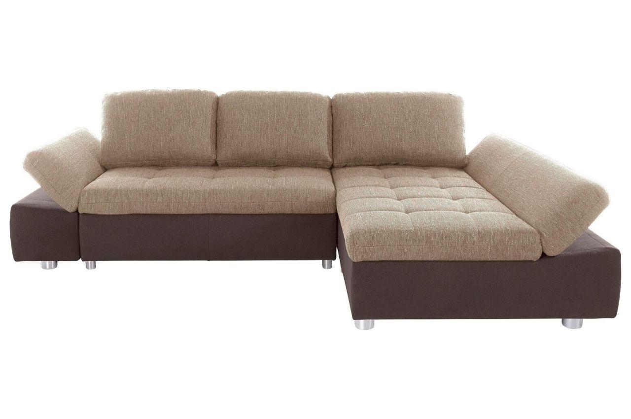 Sofa L-Form rechts - mit Schlaffunktion - Beige | Sofas ...