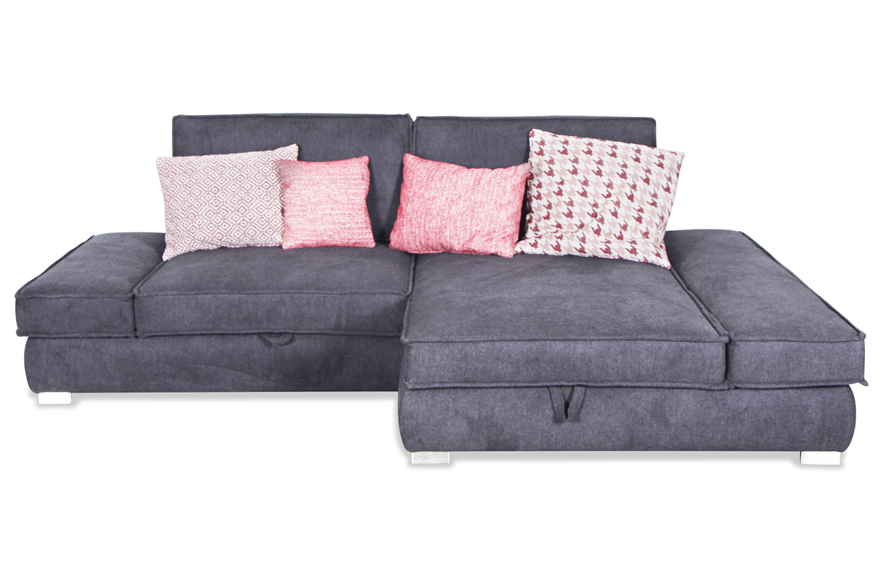 ecksofa mit schlaffunktion grau mit federkern sofas. Black Bedroom Furniture Sets. Home Design Ideas