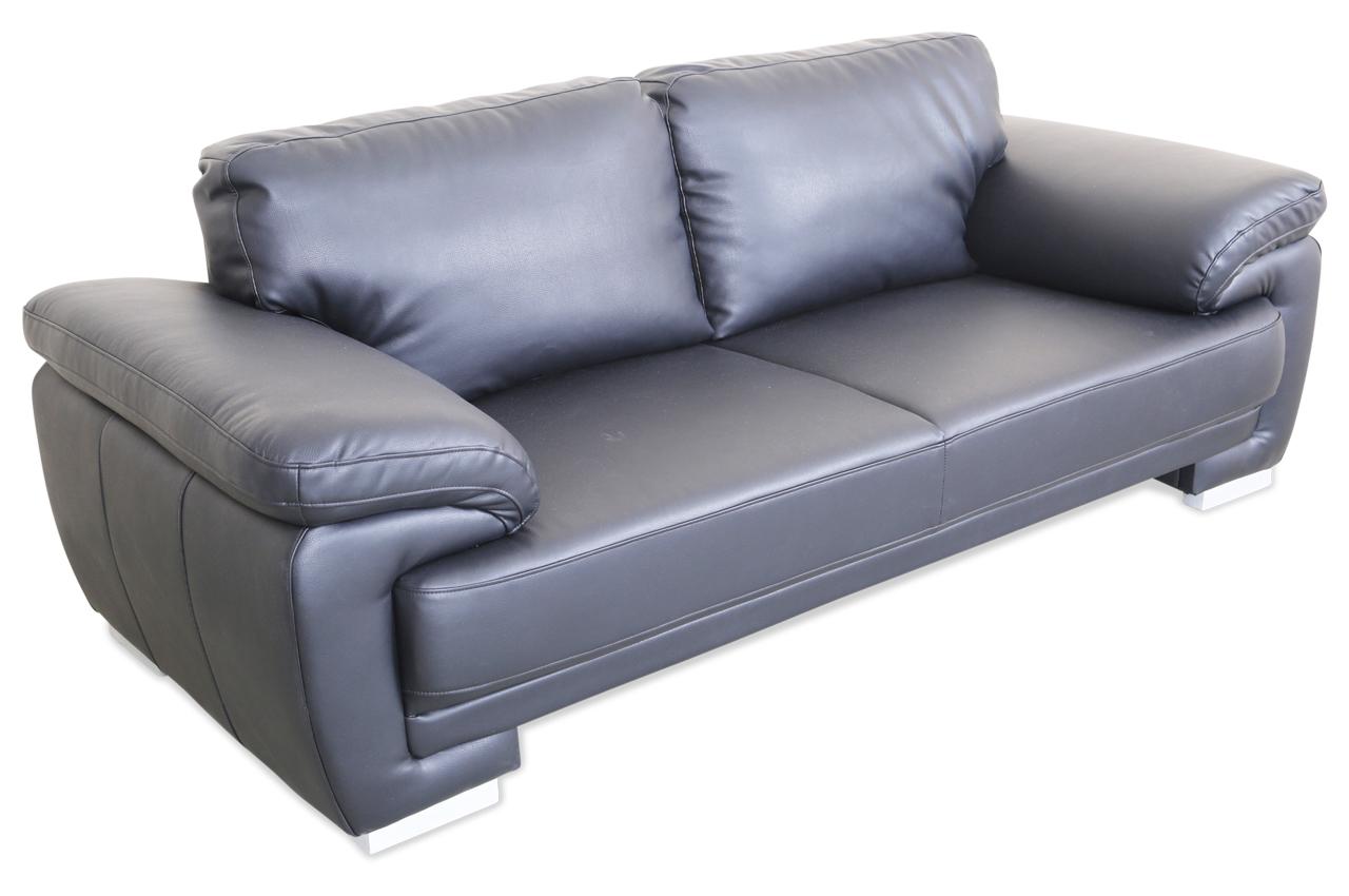 3er sofa nele schwarz sofa couch ecksofa ebay. Black Bedroom Furniture Sets. Home Design Ideas