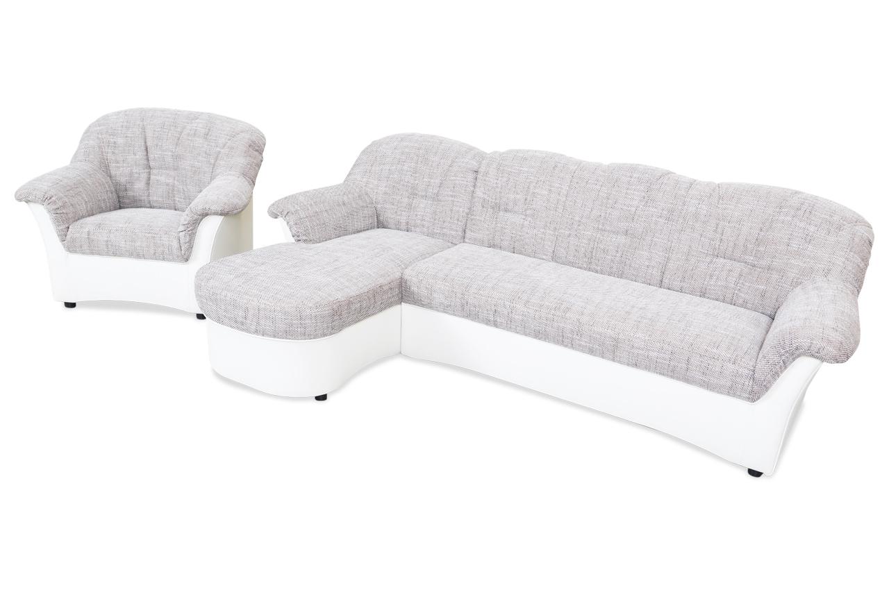 Ecksofa flores mit sessel braun sofas zum halben preis for Ecksofa mit sessel