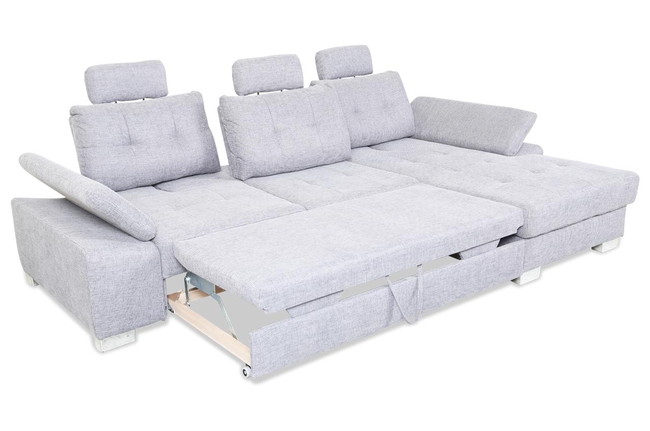 ecksofa brezza mit relax und schlaffunktion grau. Black Bedroom Furniture Sets. Home Design Ideas
