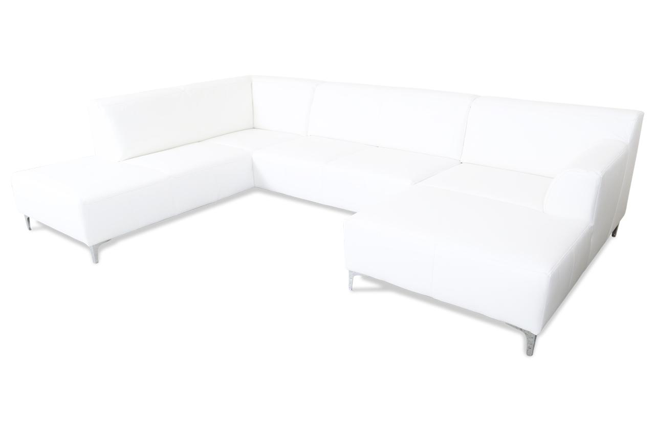 ada alina leder wohnlandschaft 7127 weiss sofas zum halben preis. Black Bedroom Furniture Sets. Home Design Ideas
