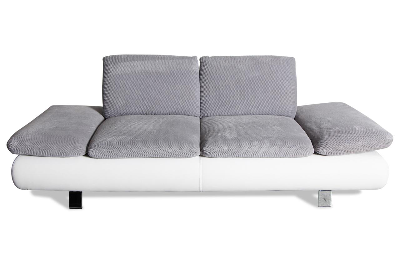 2er sofa mit sitzverstellung weiss sofas zum halben preis. Black Bedroom Furniture Sets. Home Design Ideas