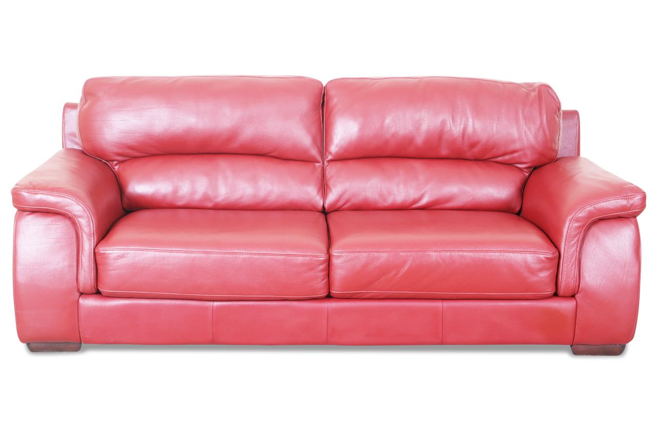 htl international leder 3er sofa 1657 rot sofas zum halben preis. Black Bedroom Furniture Sets. Home Design Ideas