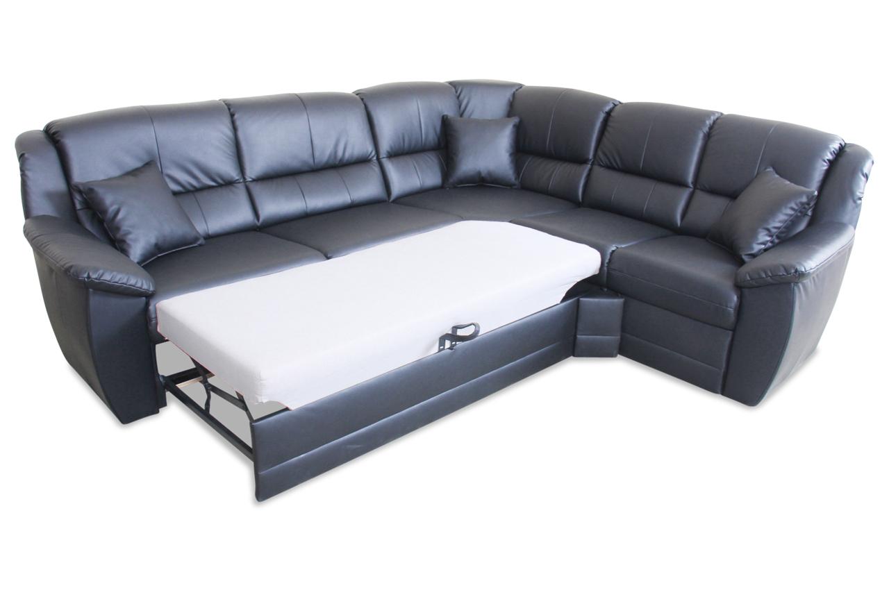 rundecke selva mit schlaffunktion schwarz sofa couch ecksofa ebay. Black Bedroom Furniture Sets. Home Design Ideas