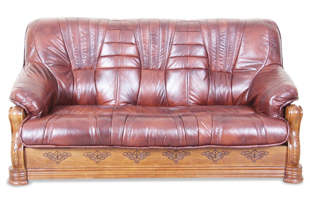 max winzer leder 3er sofa texas braun sofas zum halben preis. Black Bedroom Furniture Sets. Home Design Ideas
