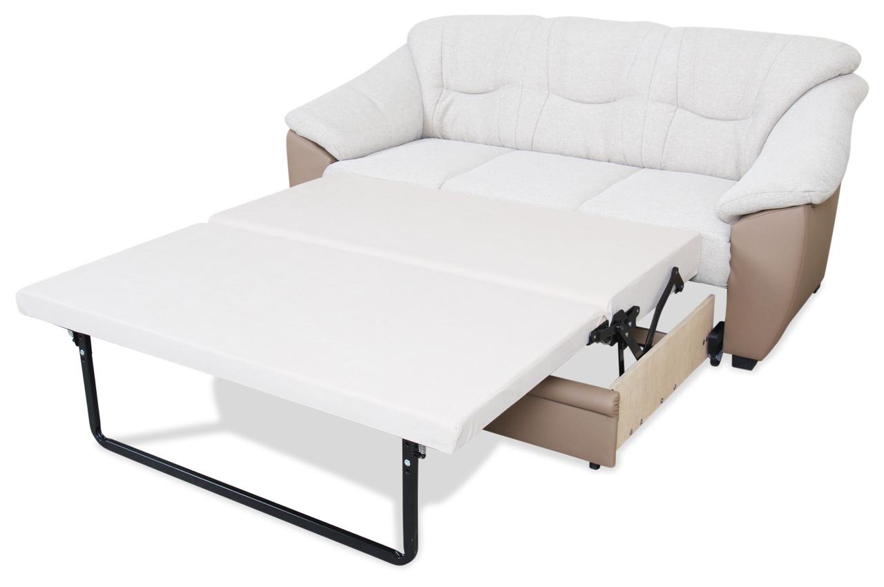 3er sofa savona mit schlaffunktion creme sofa couch ecksofa ebay. Black Bedroom Furniture Sets. Home Design Ideas