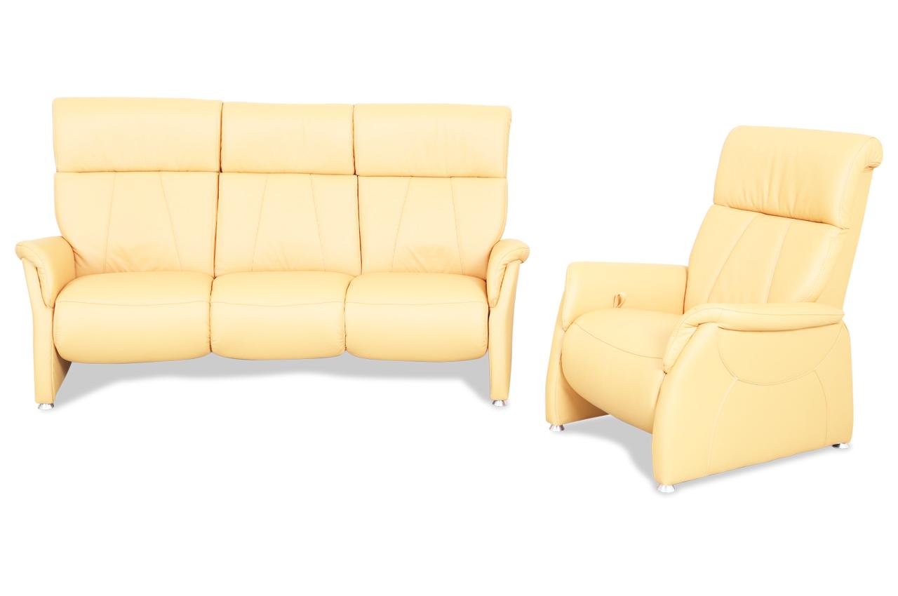 leder garnitur mit relax gelb mit federkern sofas zum halben preis. Black Bedroom Furniture Sets. Home Design Ideas