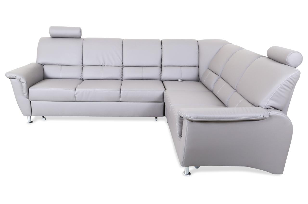 rundecke pisa mit relax und schlaffunktion grau mit federkern sofas zum halben preis. Black Bedroom Furniture Sets. Home Design Ideas