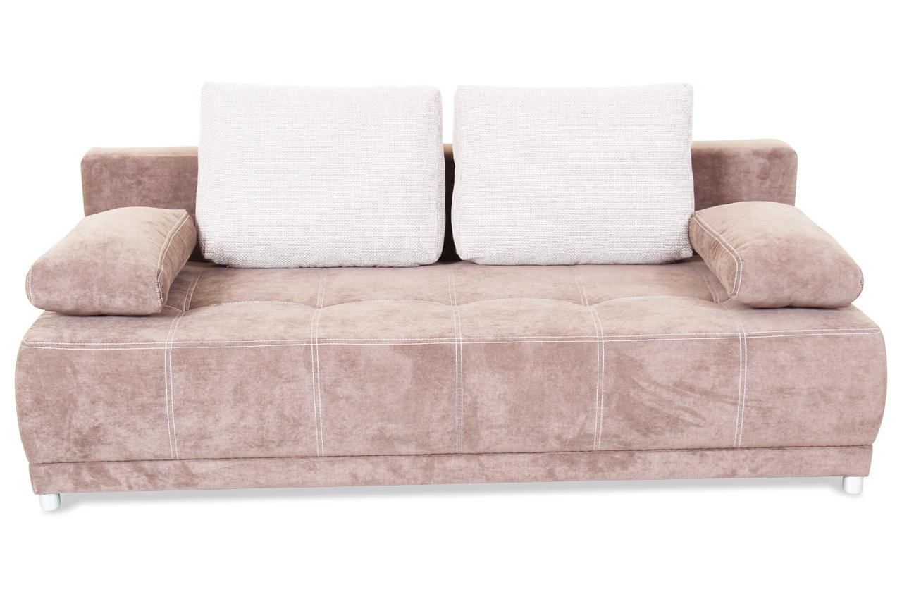 Blackredwhite 3er sofa ariane mit schlaffunktion braun mit federkern sofas zum halben preis 3er sofa mit schlaffunktion