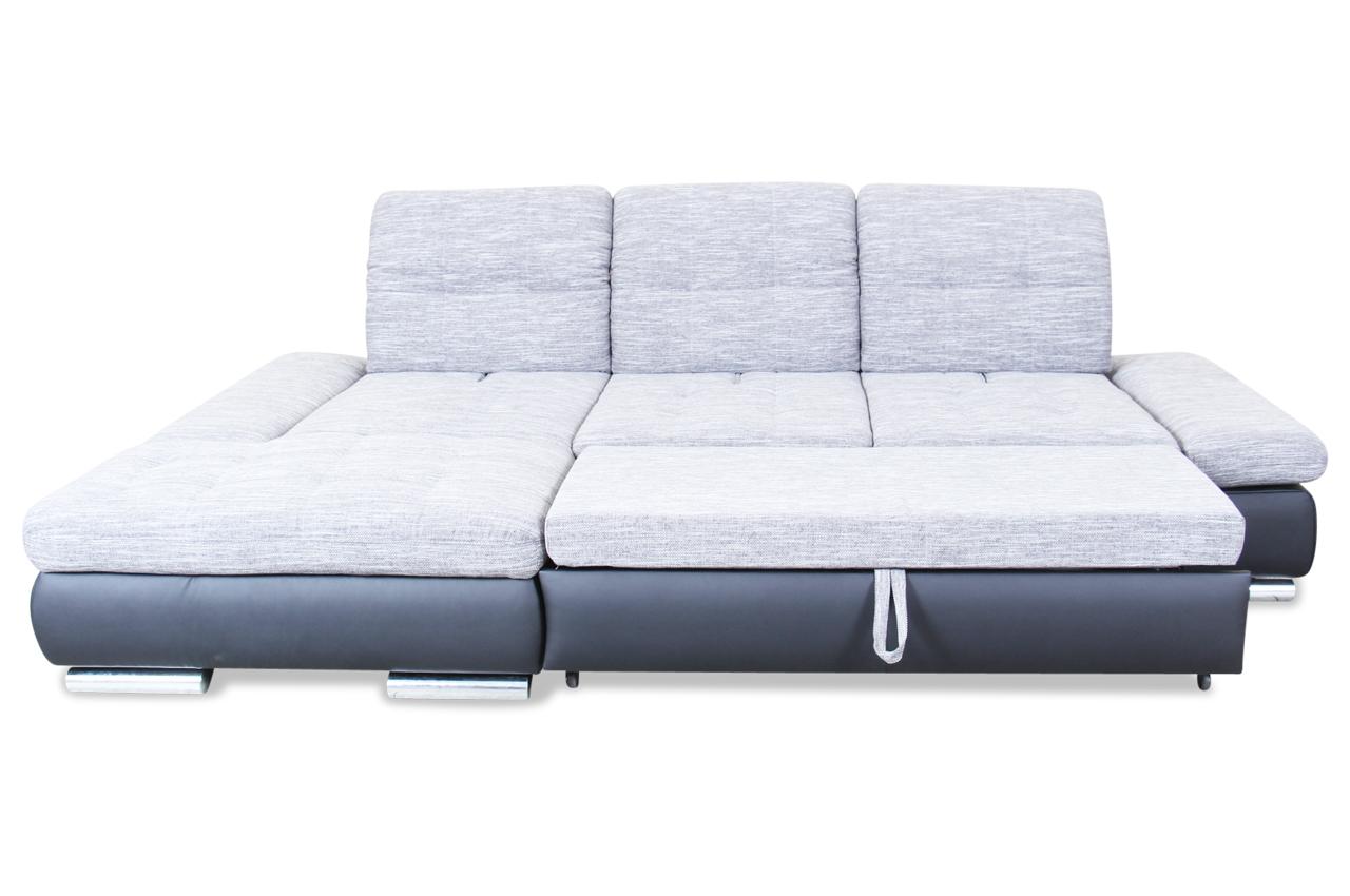 ecksofa mit sitzverstellung und schlaffunktion schwarz sofas zum halben preis. Black Bedroom Furniture Sets. Home Design Ideas