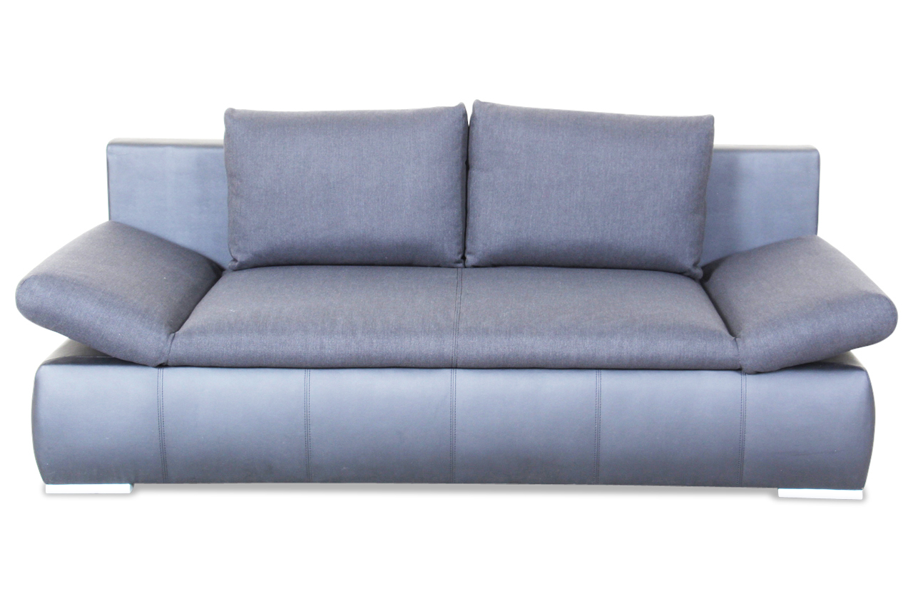 blackredwhite 3er sofa orex mit schlaffunktion schwarz. Black Bedroom Furniture Sets. Home Design Ideas