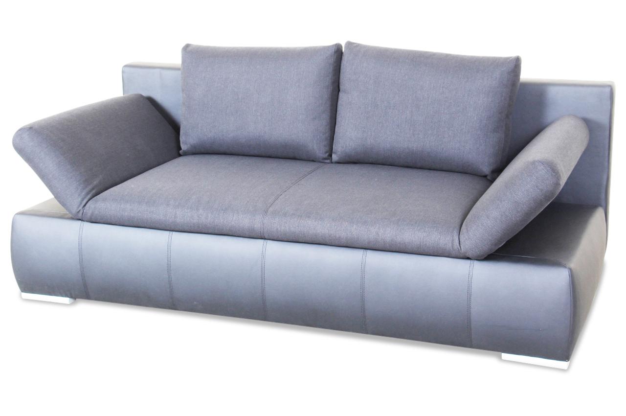 blackredwhite 3er sofa orex mit schlaffunktion schwarz sofa couch ecksofa ebay. Black Bedroom Furniture Sets. Home Design Ideas