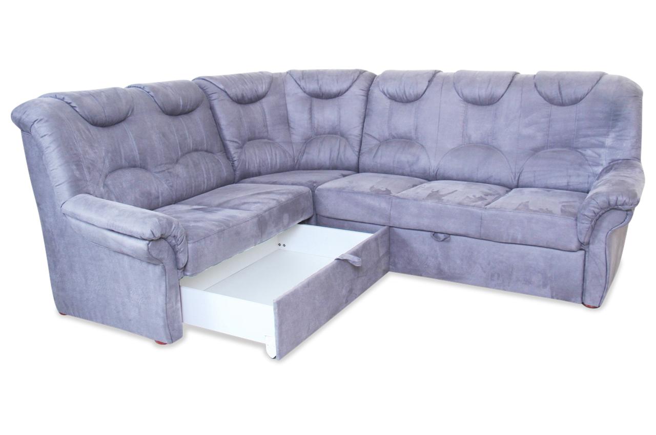 rundecke linus mit schlaffunktion grau sofa couch ecksofa. Black Bedroom Furniture Sets. Home Design Ideas