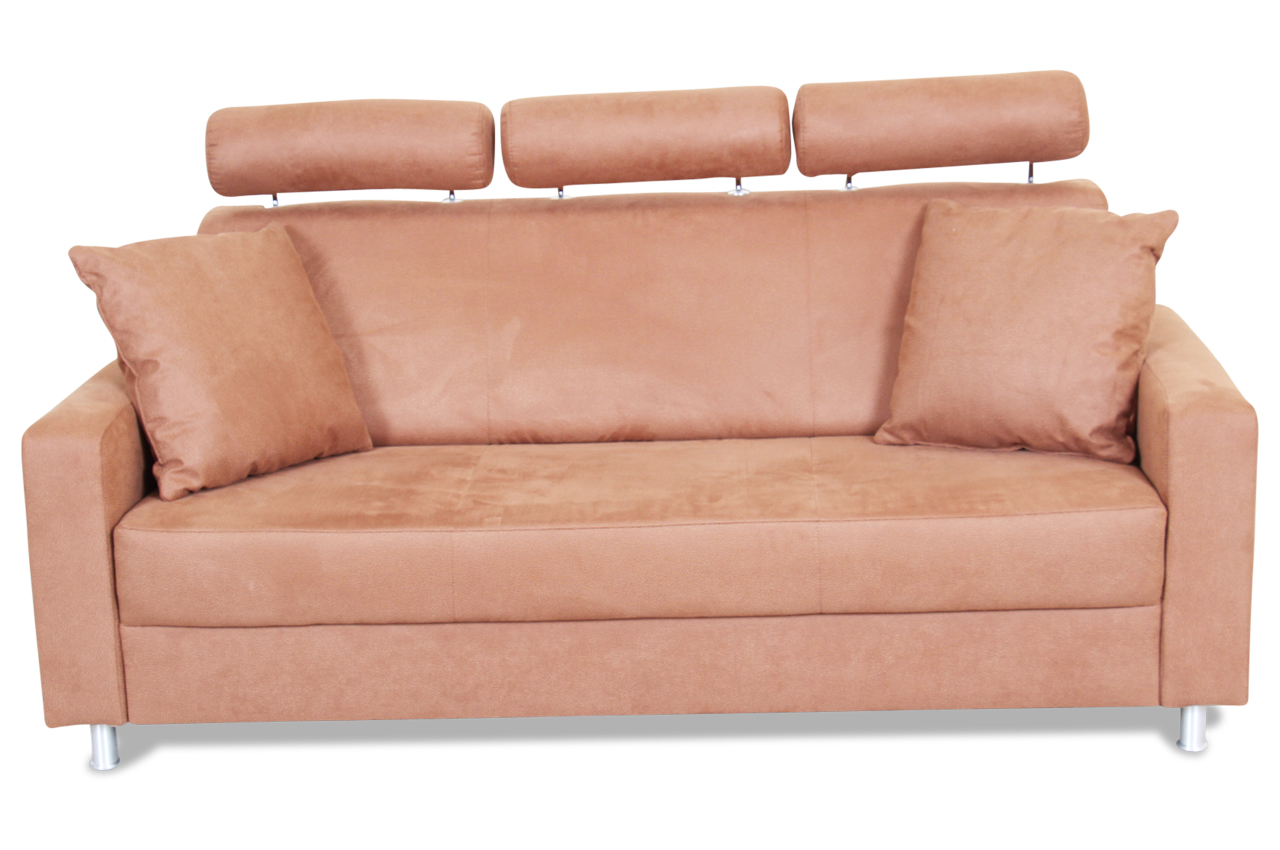 ada alina 3er sofa 7420 braun sofas zum halben preis. Black Bedroom Furniture Sets. Home Design Ideas