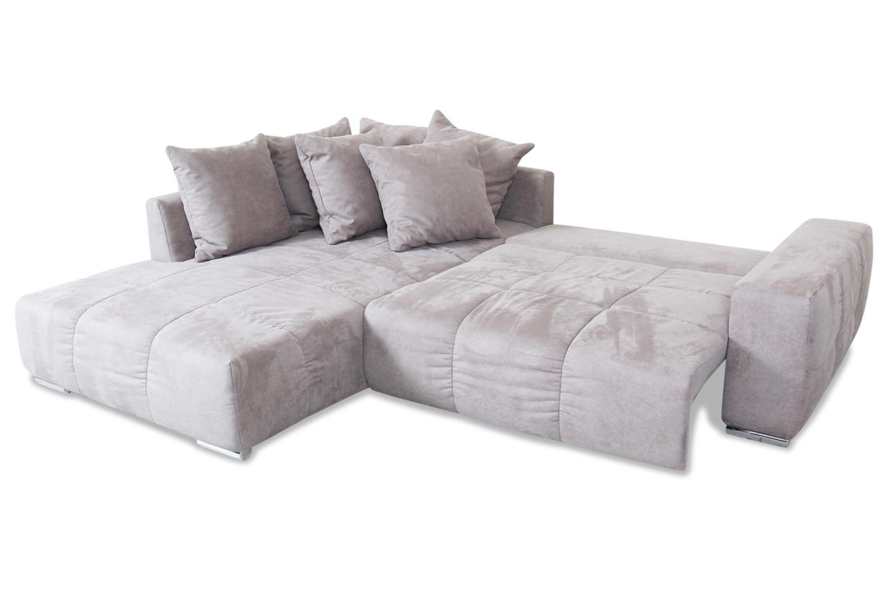castello ecksofa malibu mit schlaffunktion grau sofas zum halben. Black Bedroom Furniture Sets. Home Design Ideas