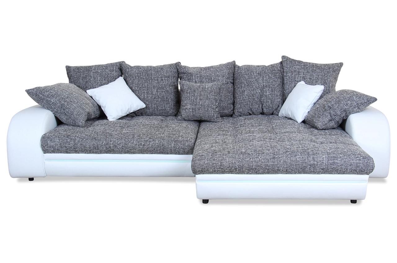 Genial Ecksofa Weiß Grau Sammlung Von Castello Portofino - Mit Led - Weiss