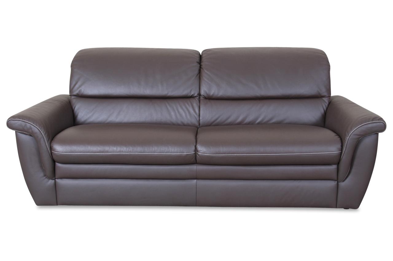 Leder 3er sofa braun sofas zum halben preis for Fernsehsessel leder braun