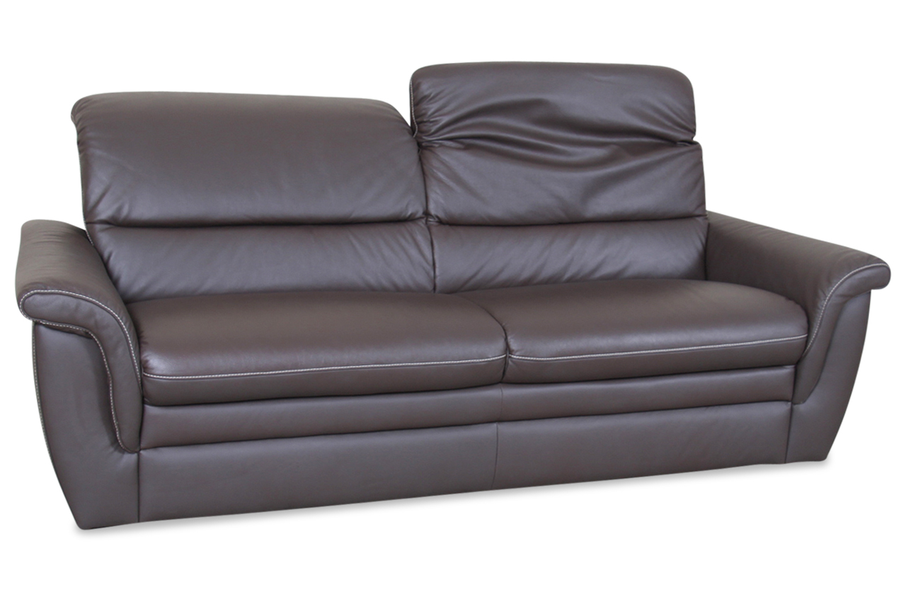 leder 3er sofa braun sofa couch ecksofa ebay. Black Bedroom Furniture Sets. Home Design Ideas