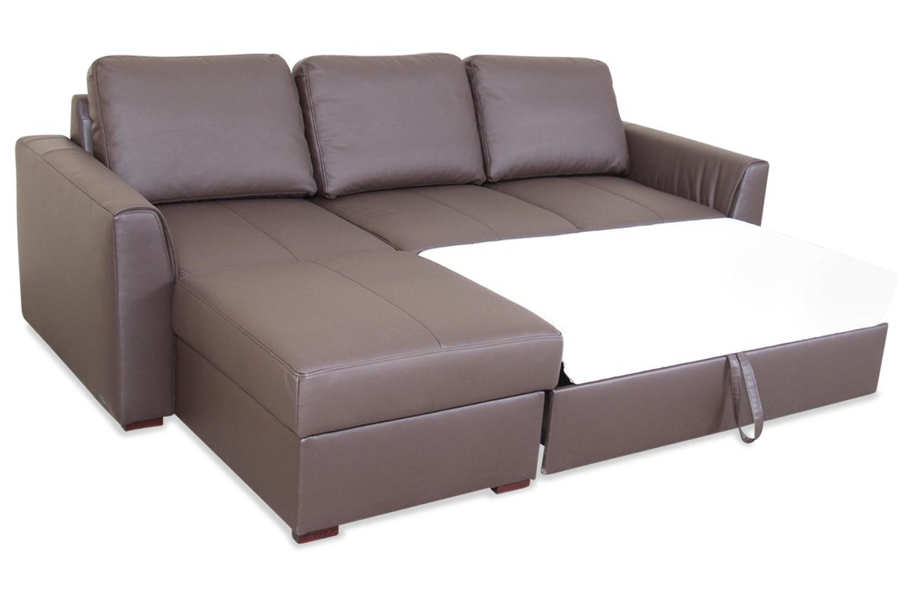 Innenarchitektur Couch Leder Braun Sammlung Von Ecksofa Moreno Mit Schlaffunktion Sofas