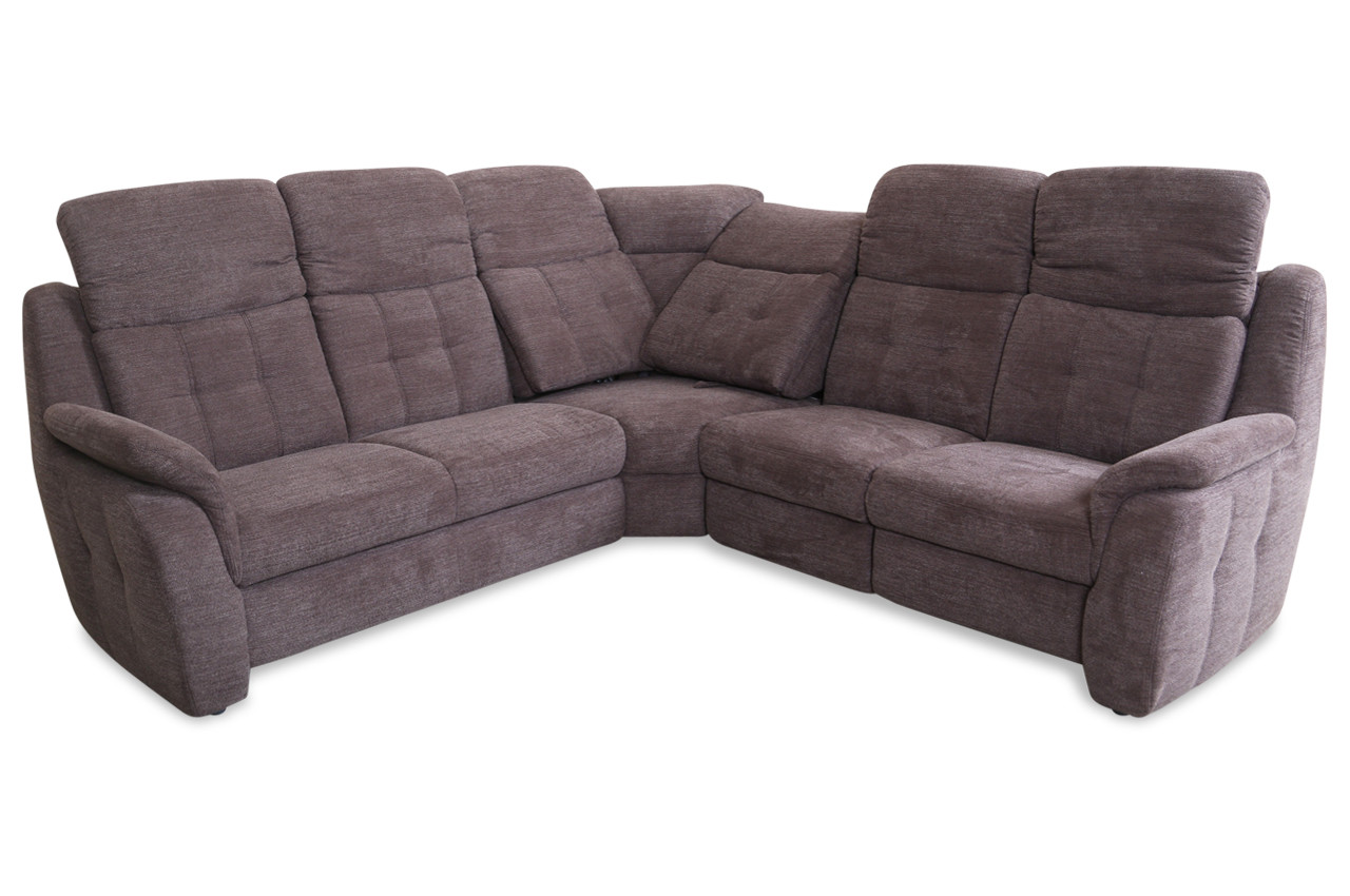rundecke mit relax braun sofa couch ecksofa ebay. Black Bedroom Furniture Sets. Home Design Ideas