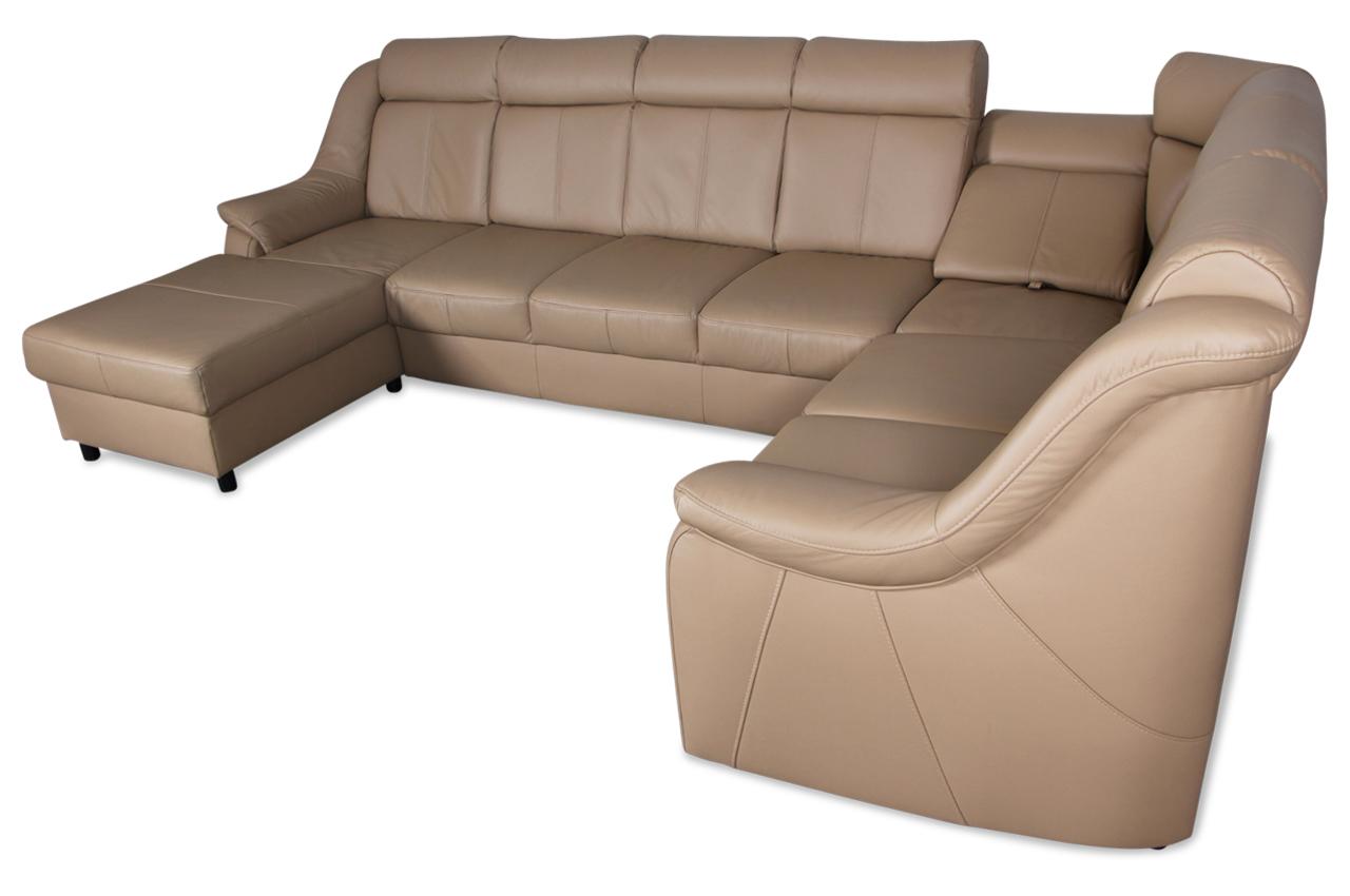 leder wohnlandschaft basel mit sitzverstellung braun sofa couch ecksofa ebay. Black Bedroom Furniture Sets. Home Design Ideas