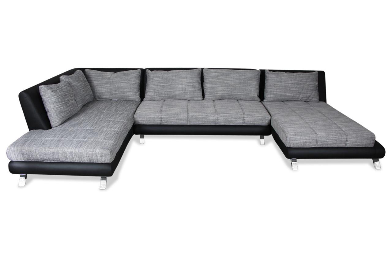 Wohnlandschaft swing grau sofas zum halben preis for Wohnlandschaft grau