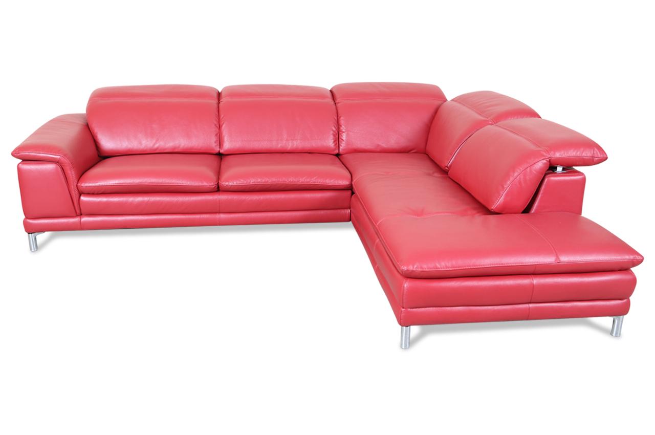 htl international leder ecksofa xl 9861 rot mit federkern sofas zum halben preis. Black Bedroom Furniture Sets. Home Design Ideas
