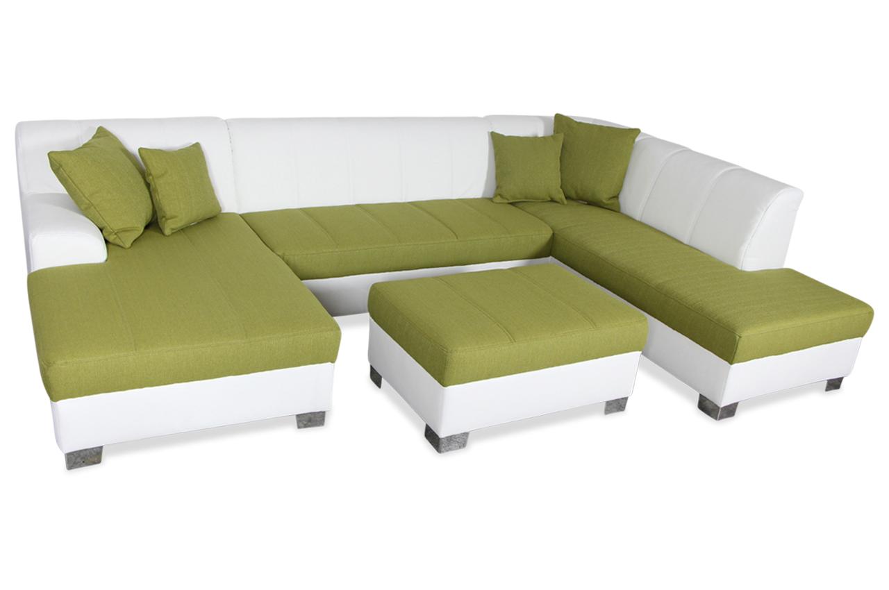 wohnlandschaft capri mit hocker gruen sofas zum halben preis. Black Bedroom Furniture Sets. Home Design Ideas
