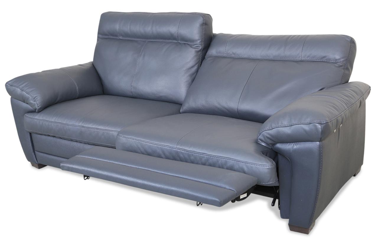 editions leder 2er sofa u074 grau mit federkern sofas zum halben preis. Black Bedroom Furniture Sets. Home Design Ideas