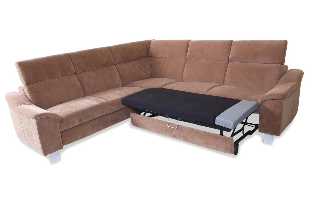Rundecke Mit Schlaffunktion Braun Sofa Couch Ecksofa