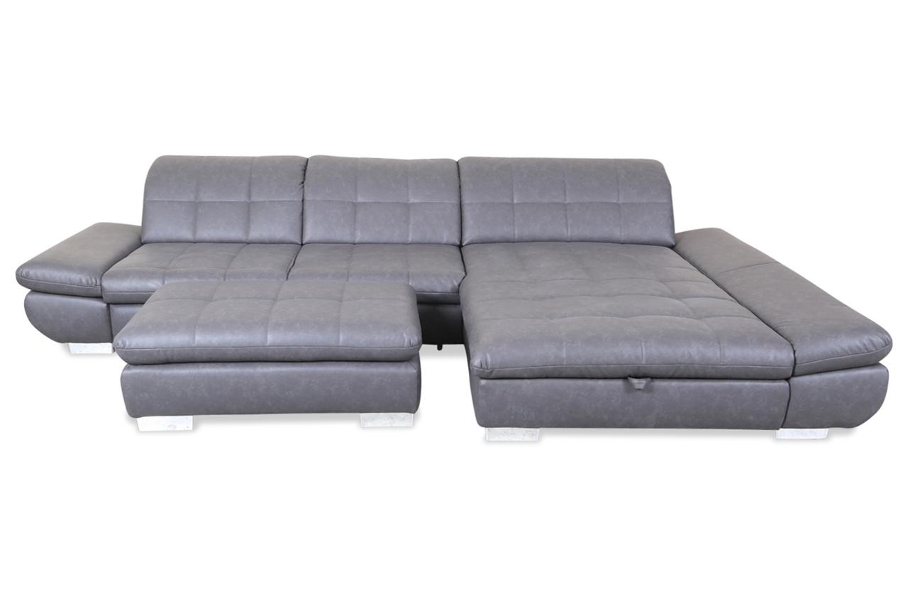 ada alina ecksofa 7686 mit hocker mit schlaffunktion grau sofas zum halben preis. Black Bedroom Furniture Sets. Home Design Ideas