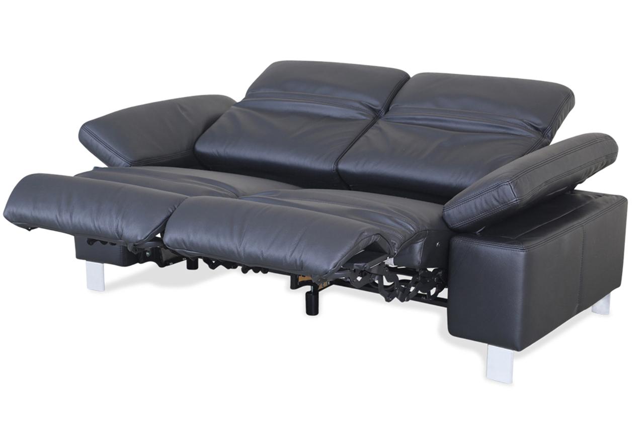 Leder 2er Sofa Mit Relax Schwarz Mit Federkern Sofas Zum
